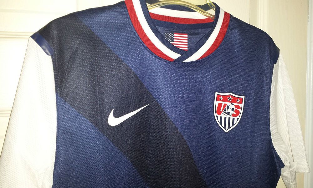 NEW Nike Dri-Fit USA National Team Soccer Jersey Mens Large L 449636  AUTHENTIC  Nike  USA f87a4418e