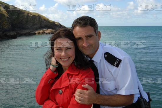 Julie Graham and John Marquez from Doc Martin, Series 5.