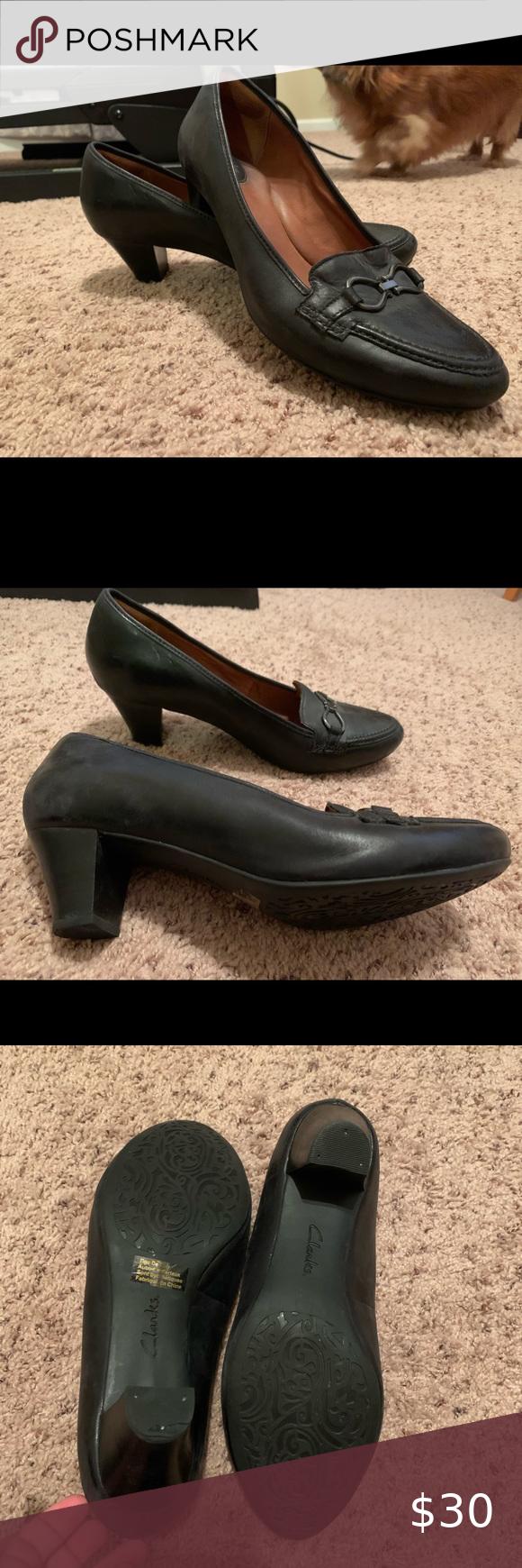 Used Clarks Artisan Decade Capri Pump Used Very Comfortable Black Dress Shoe Has A Small Hee Shoes Women Heels Comfortable Black Dress Shoes Black Dress Shoe [ 1740 x 580 Pixel ]