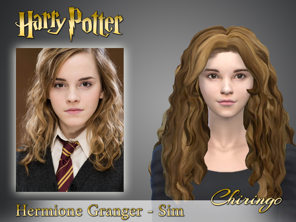 The Sims 4 Realistic Hermione Granger Sim Chiringo On Patreon Harry Potter Hairstyles Hermione Granger Sims Hair