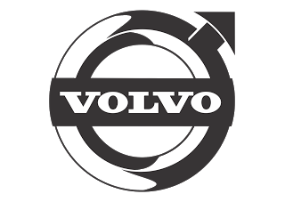 Vector logo download free: Volvo (Design Black White) Logo
