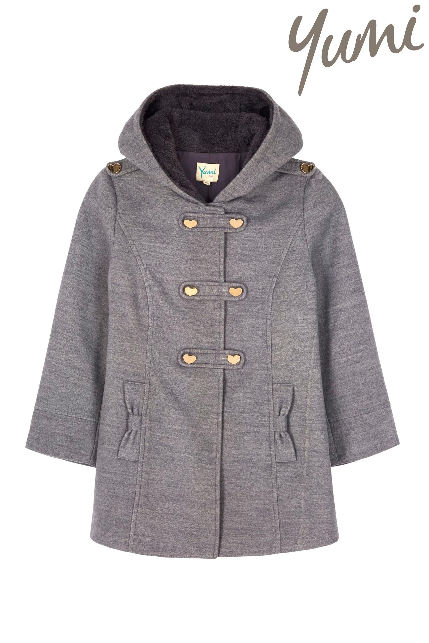Buy Yumi Girls Heart Duffle Coat (5-14yrs) from the Next UK online ...