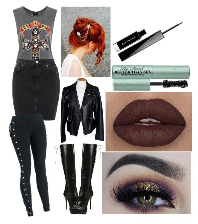 """""""Untitled #595"""" by katywilliams on Polyvore featuring Topshop, Alexander McQueen, BHCosmetics, Too Faced Cosmetics and Givenchy"""