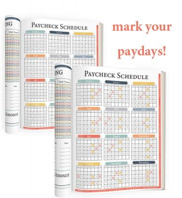 Paycheck Tracker Budget Pinterest Debt