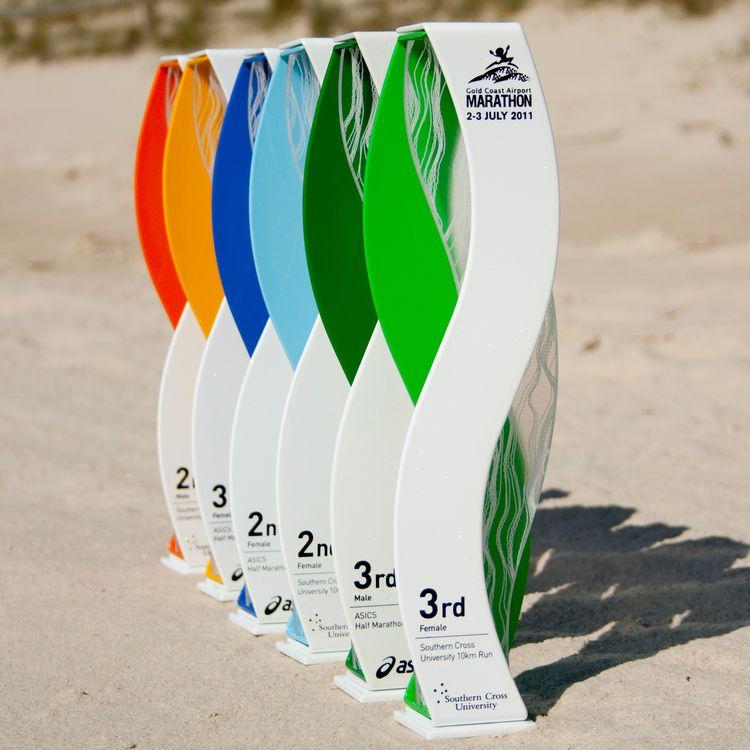 gold coast marathon custom trophy awards - 2011