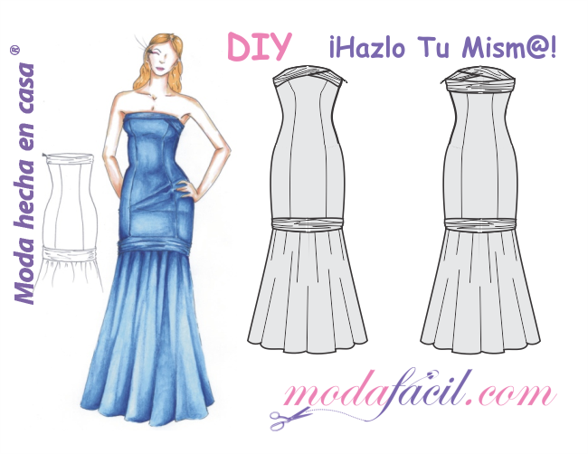 Descarga el patrón del Vestido de Fiesta de Damas de Honor | Dress ...