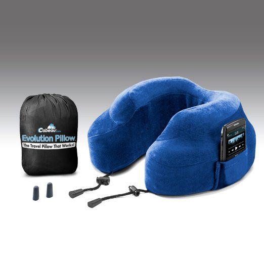 Travel Neck Pillow-Memory Foam Travel Pillows Neck and Head Support Pillows,Light Pillows for Long Haul Flights Blue