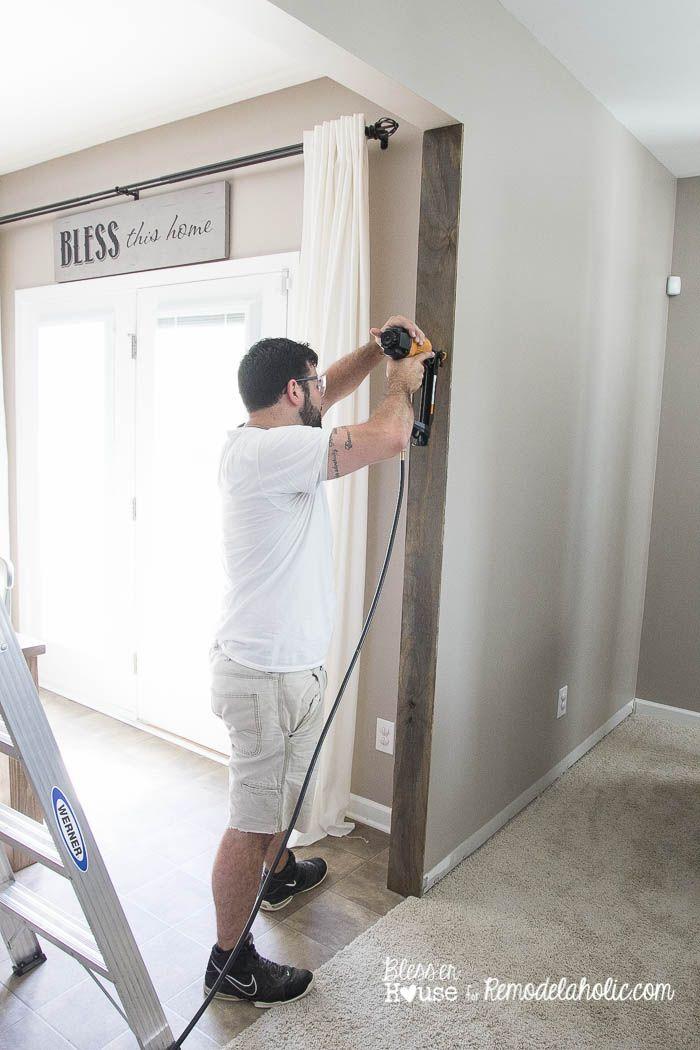 Diy Wood Beam Doorway 7 Of 23 Wood Beams Living Room
