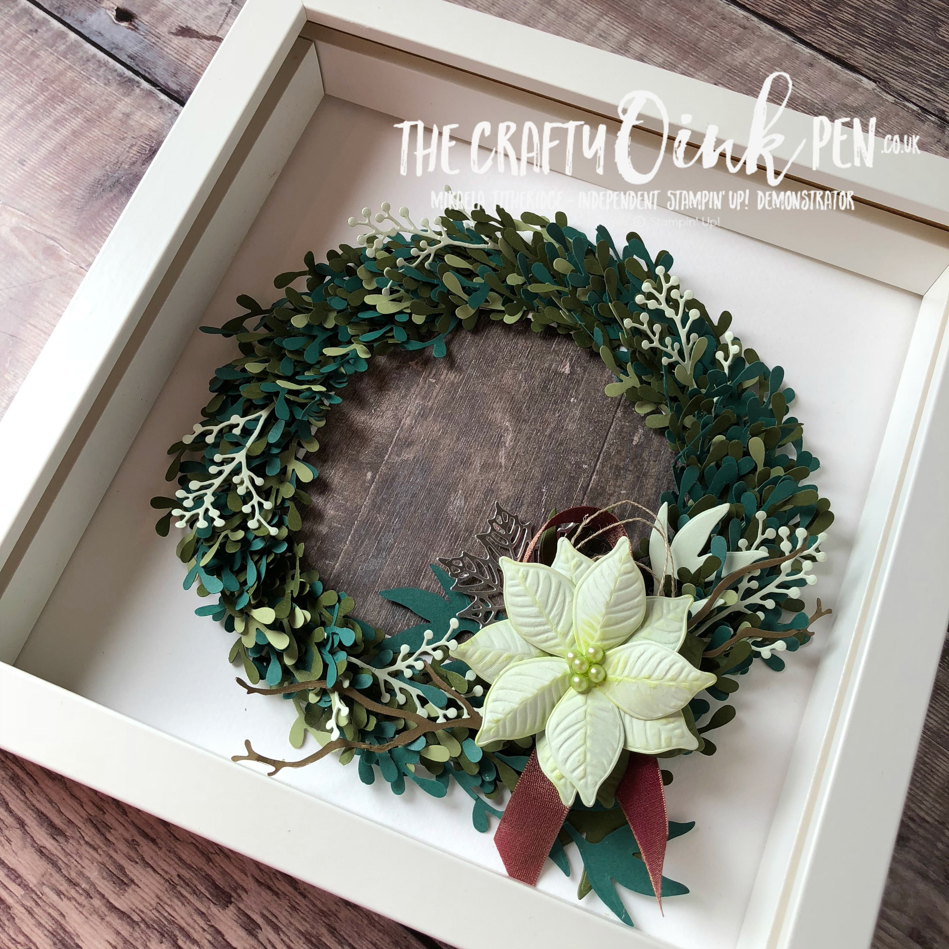 Photo of Sprig Punch Christmas Wreath with Tutorial – The Crafty oINK Pen