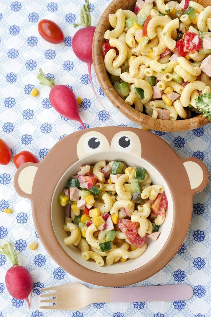 Photo of La mejor ensalada de pasta para niños (con mayonesa de leche rápida)