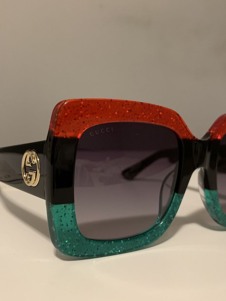 d30e81126 New Gucci GG0083S Squared Sunglasses Red black Green 55MM New Green Case  $565.00 #fashion #clothing #shoes #accessories #womensaccessories ...