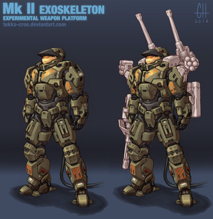 Unsc Hurunting Mk Ii Prototype Exoskeleton The Original Mark Ii