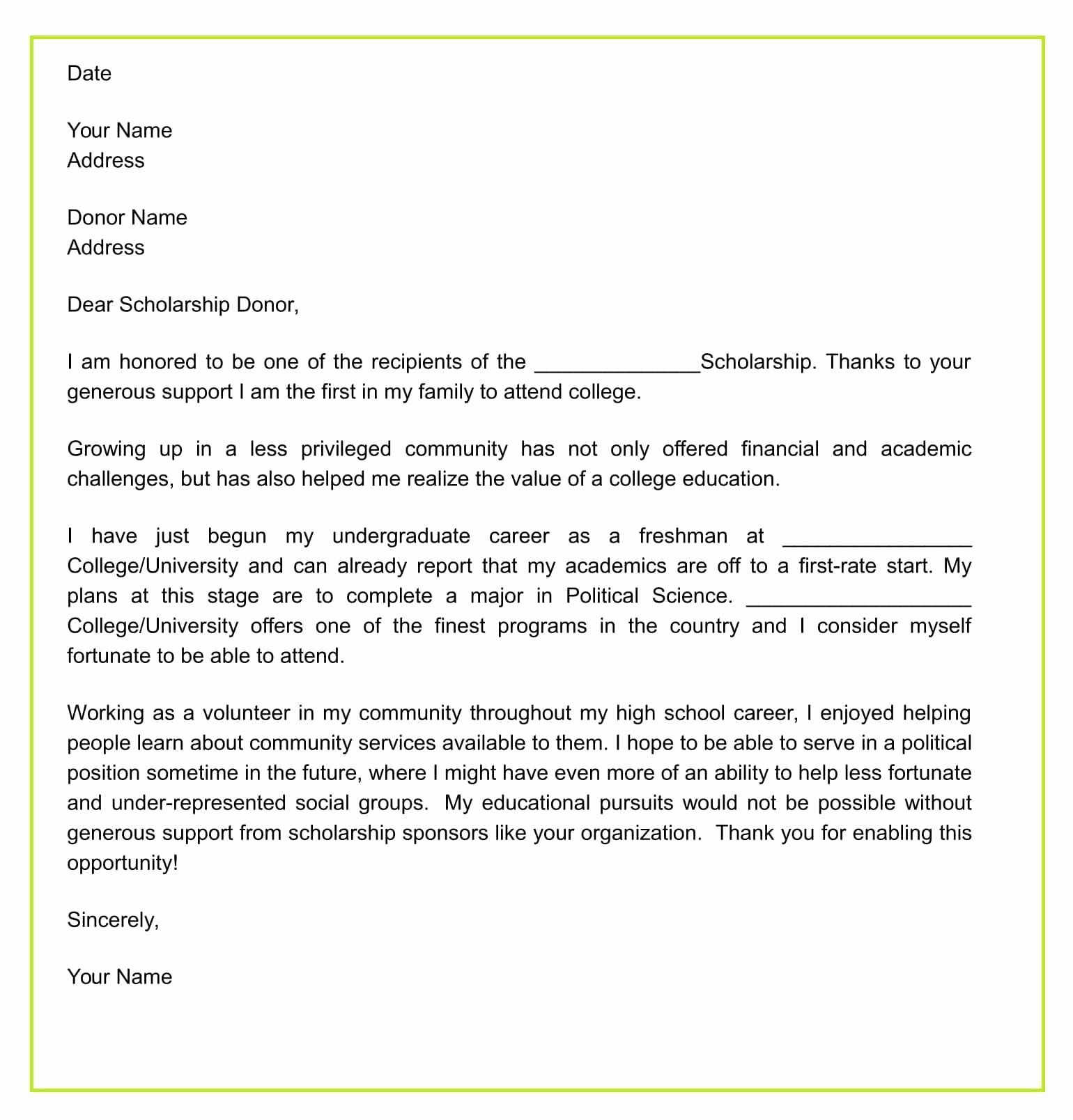 Scholarship Thank You Letter Examples Best Of How To Write Thank You Letter Fo Thank You Letter Examples Scholarship Thank You Letter Thank You Letter Template