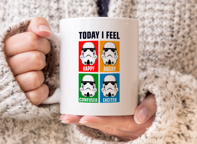 Today I Feel Funny Star Wars Stormtrooper Coffee Mug Gift Tea Cup Mugs Gift Tea Tea Cups