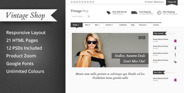 12+ Retail Fashion Website Templates | Vintage shops, eCommerce and ...