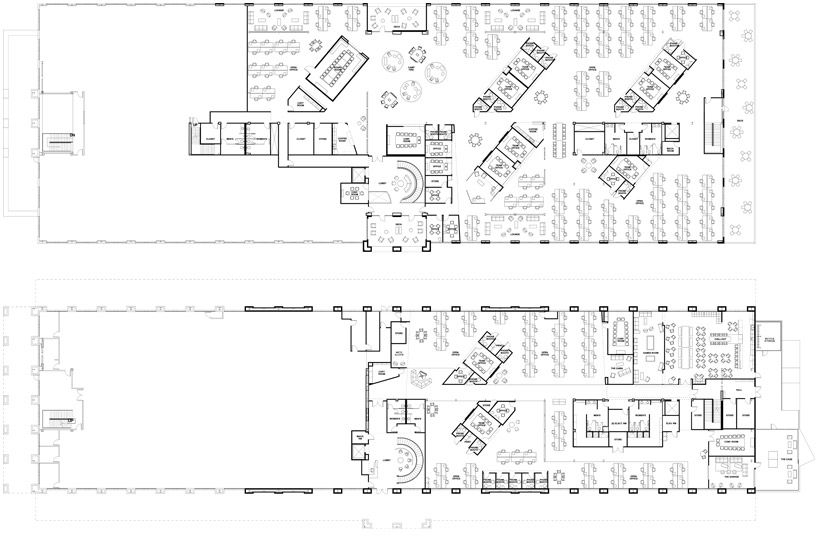 Skype 39 s office plan creative offices pinterest for Corporate office layout design