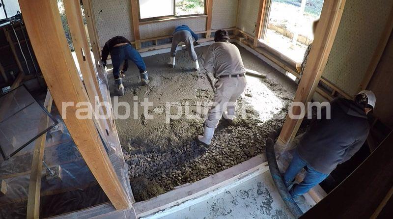 土間コンクリート打設の手順 素人だけど表面つるつるに仕上げたい