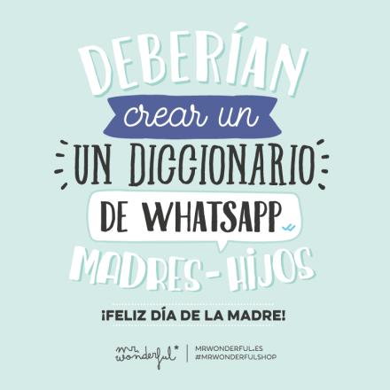 Feliz Día De La Madre By Mr Wonderful Frases Bonitas
