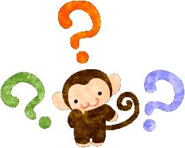Atelier B/W — ハテナな可愛いお猿のイラスト | イラスト, 可愛い, 猿