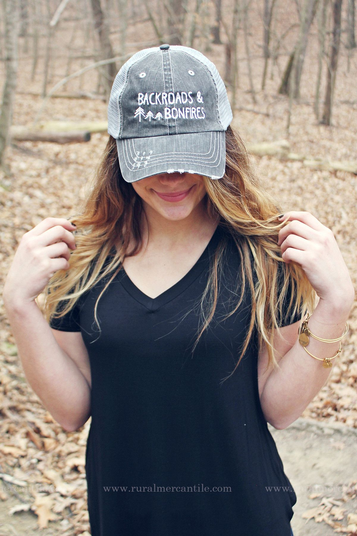 Bonfire Trucker Hat Adjustable Snapback Trucker Hat Mesh Back Trucker Hat