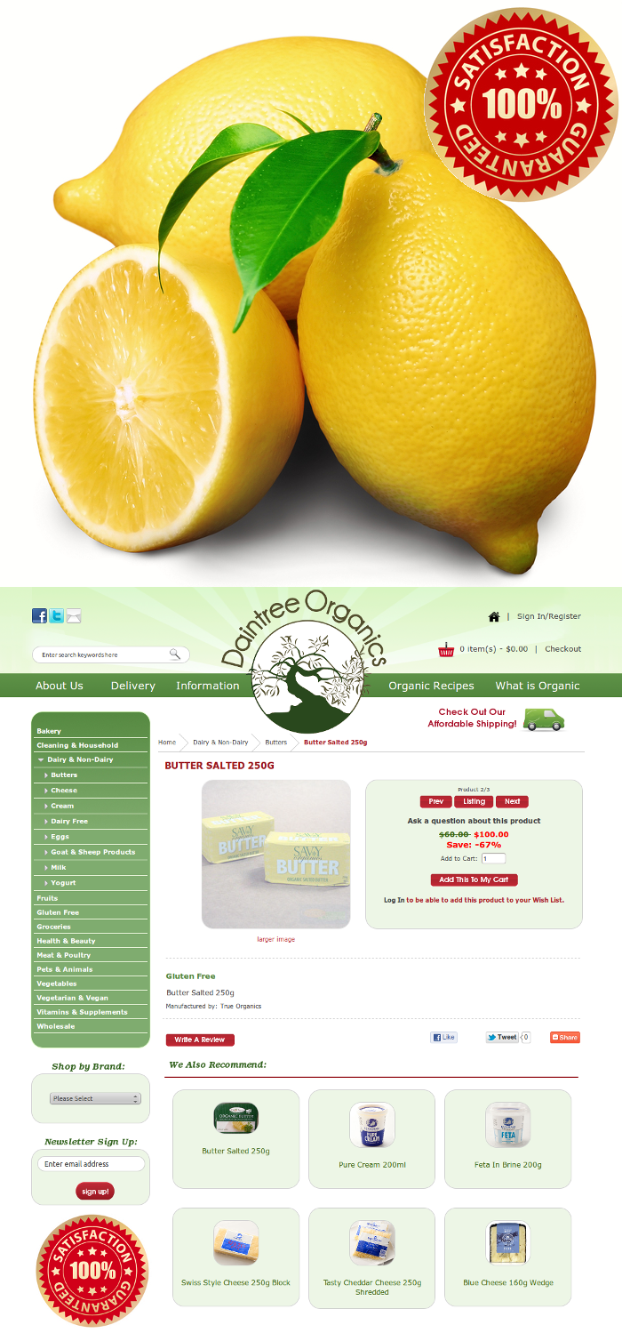 Daintree Organics - Zen Cart Responsive Ecommerce Design | Zen Cart ...