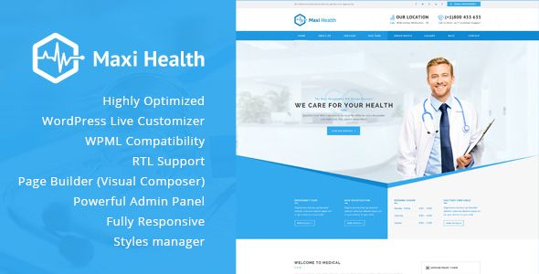 Download Maxi Health v1.3 Responsive Medical WordPress Theme ...