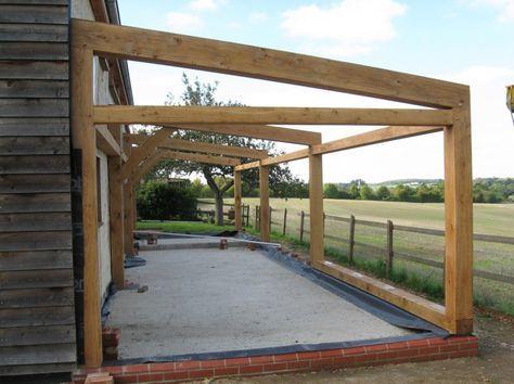 oak framed lean to - Google Search | porch | Pinterest | Roof panels ...