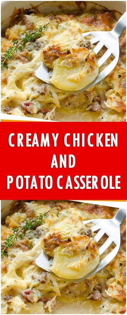 Creamy Chicken And Potato Casserole #chicken #casserole