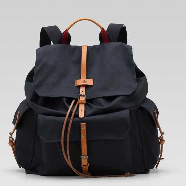 65aa13717c2 Cheap Gucci Backpack with Signature Web 258454 in Navy On Sale  185 ...