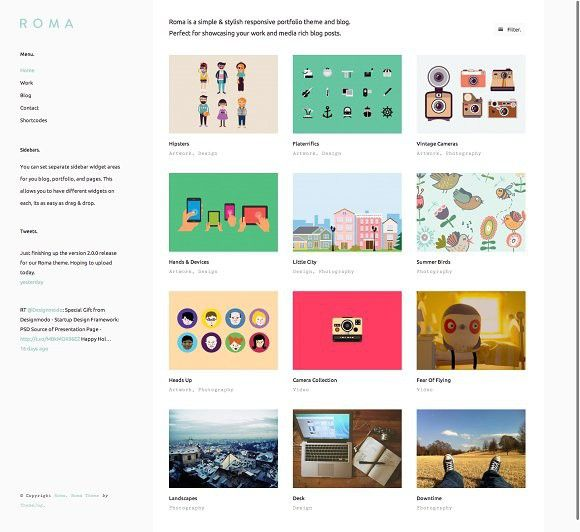 Roma - WordPress Theme. Tumblr Themes | Tumblr Themes | Pinterest ...