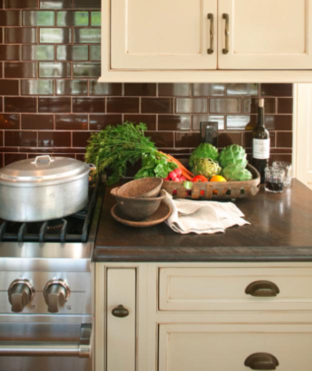 Kitchen Backsplash Cream Cabinets: Kitchen: Before And After