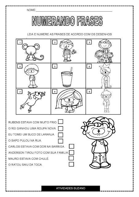 Numerando Frases Atividades Pedagogicas Atividades Atividades
