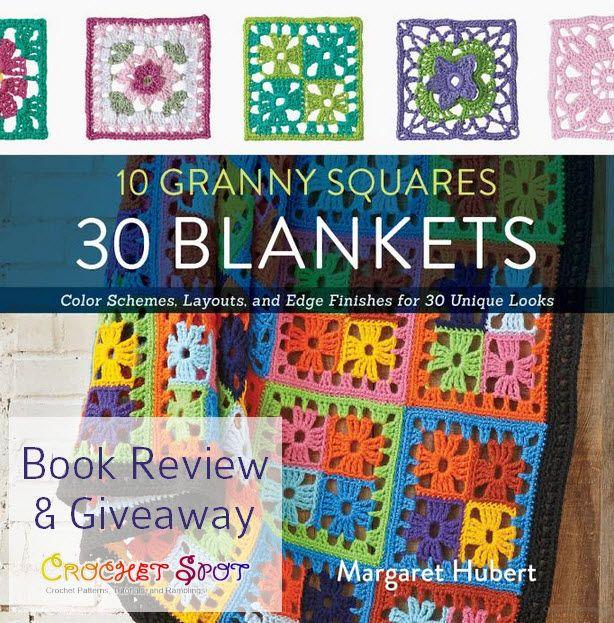 10 Granny Squares 30 Mantas libro Revisión y Sorteo de ganchillo spot