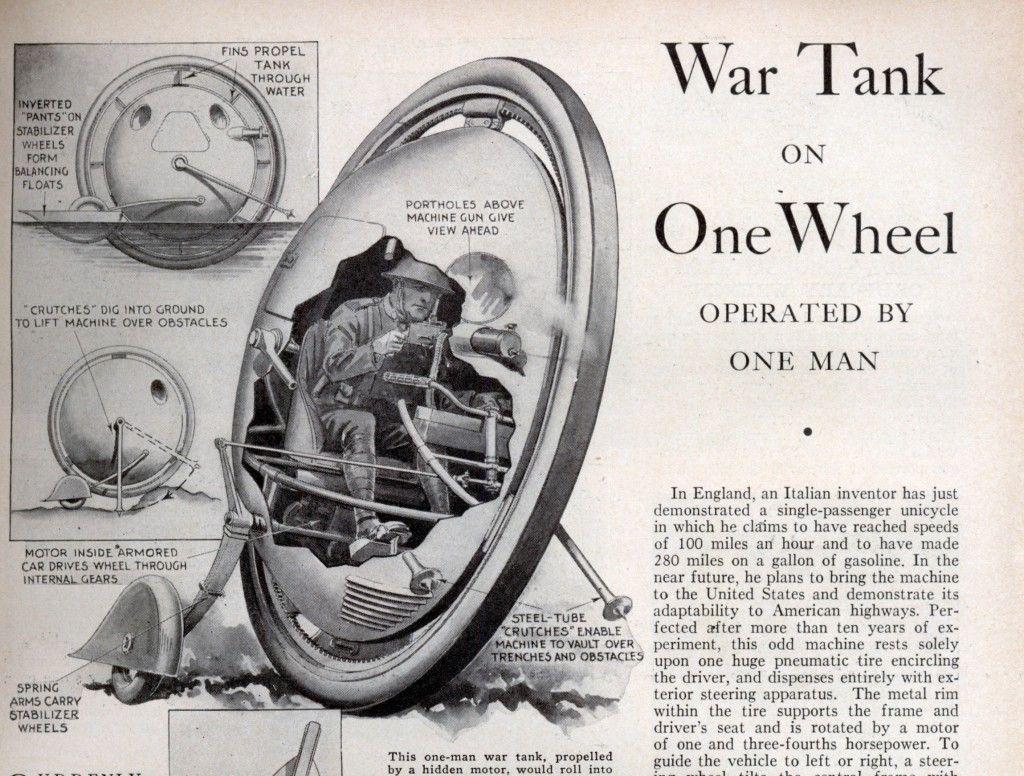 Monowheel tank