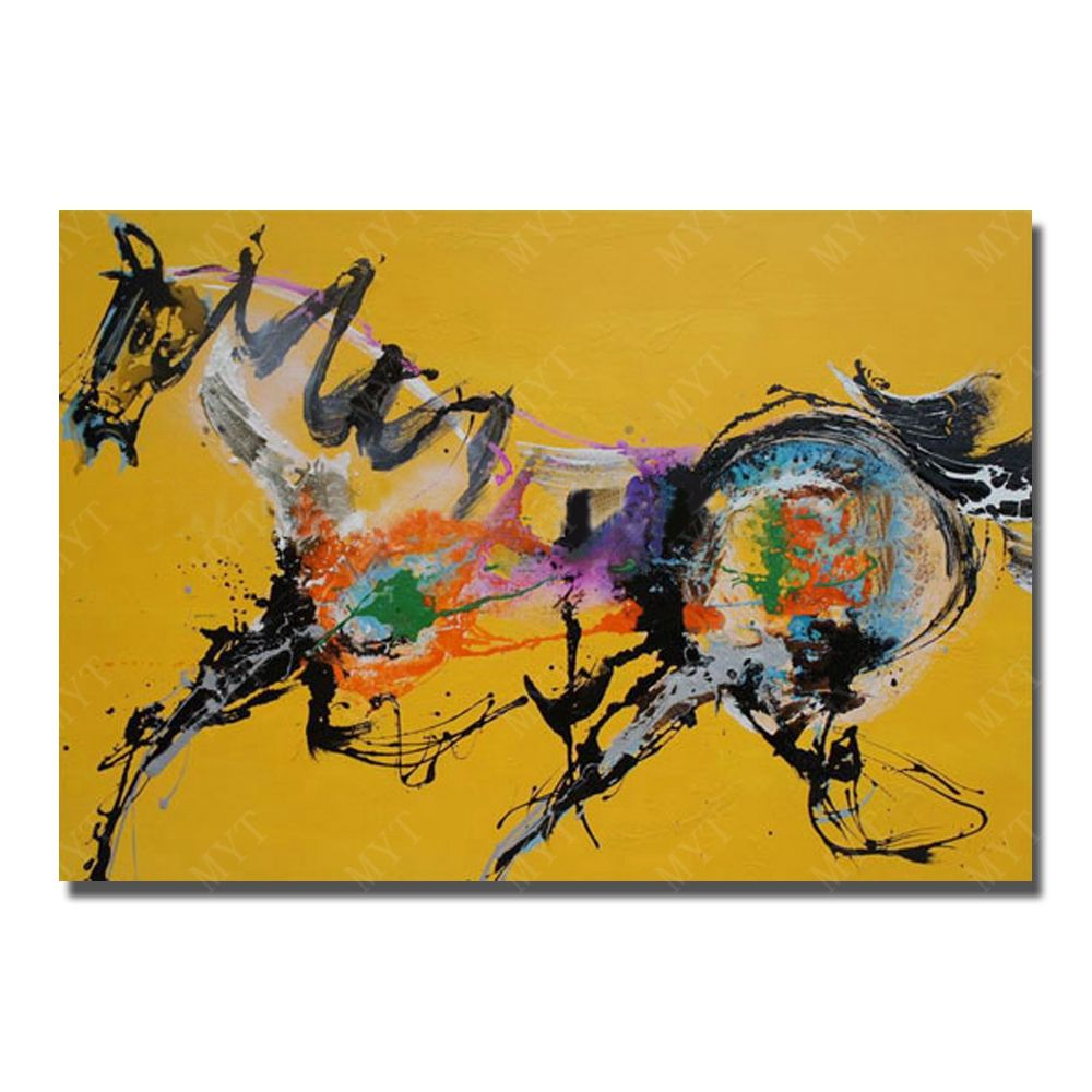 Hand paint abstract famous running horse Paintings for Living Room ...