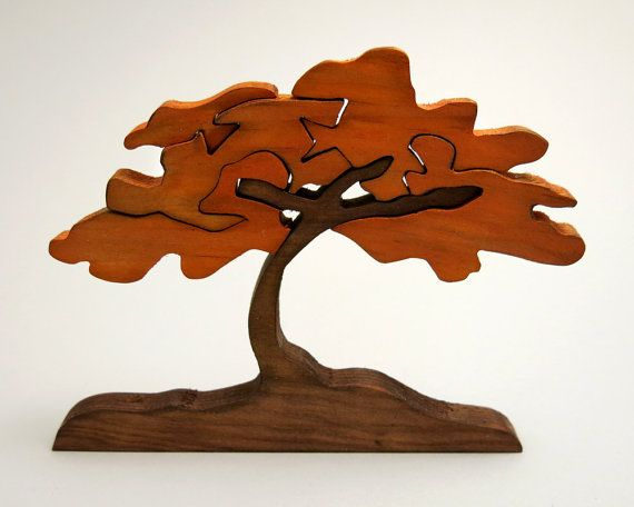 Escandinavian Tree Of Wishes Good Luck Gift Wooden Home Decor Puzzle Cherry Tree