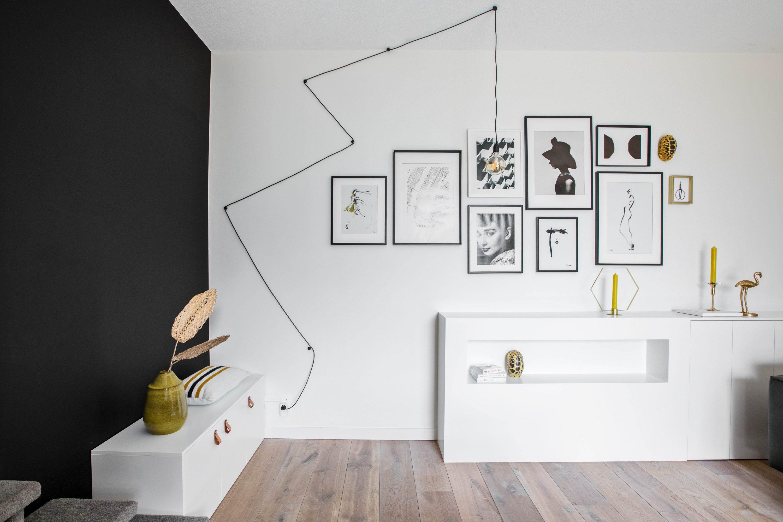 Wall Art Met Snoerboer Lamp Karwei Inspiratiemuur Lampen Woonkamer Inspiratie