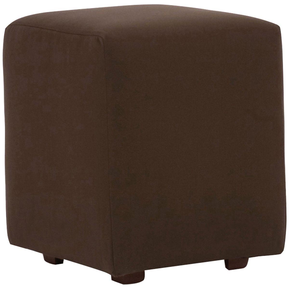 Howard Elliott Seascape Chocolate Universal Cube Ottoman Q128-462