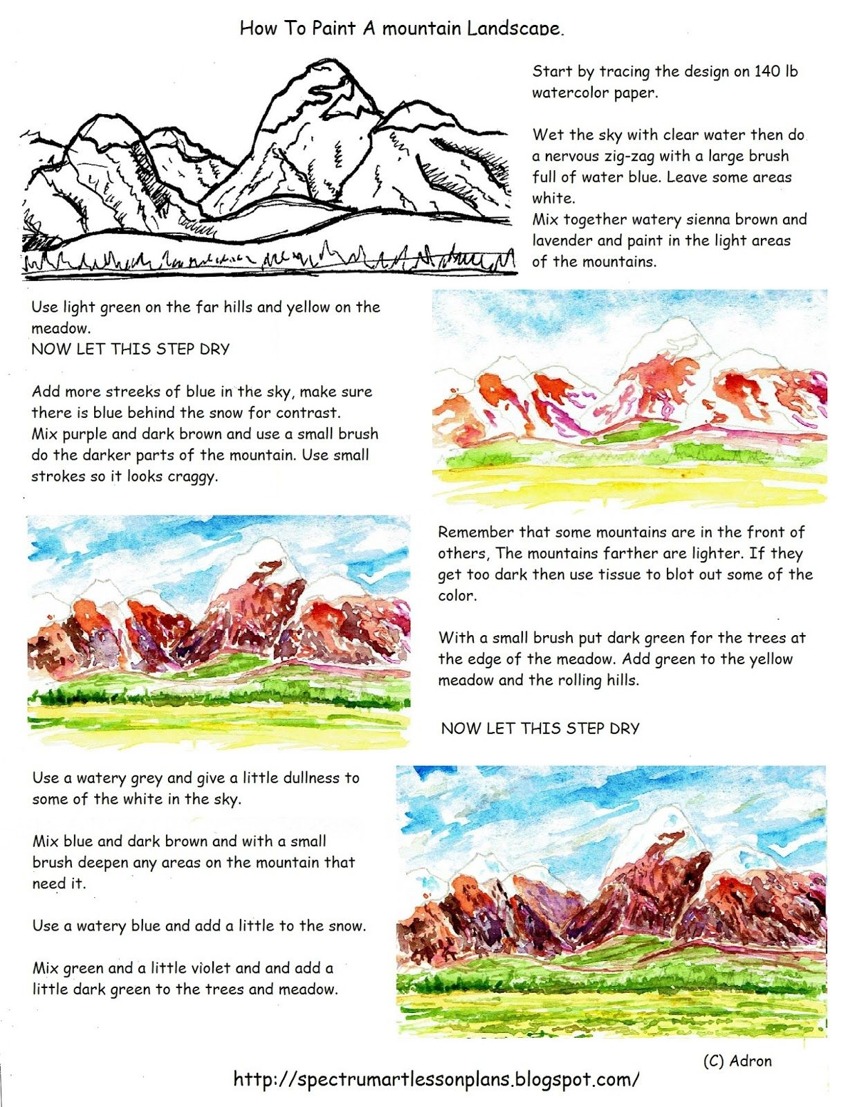 A Printable Worksheet And Art Lesson For The Young Artist