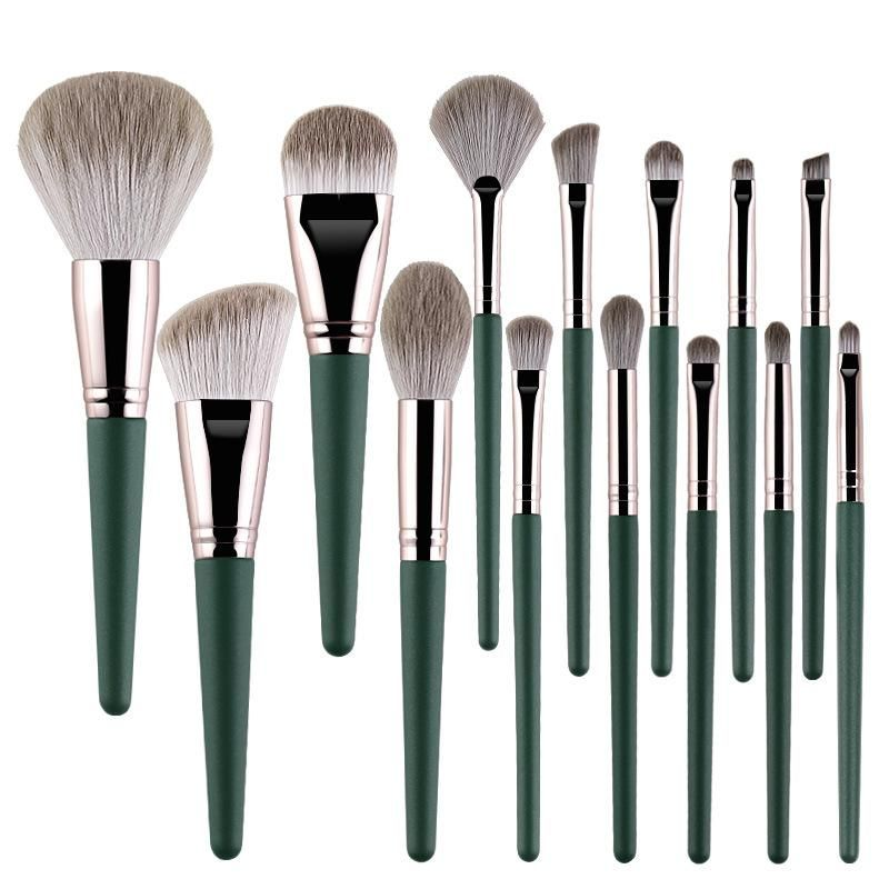 Photo of Makeup Brushes 14 PCs Makeup Brush Set Premium Synthetic Foundation Brush Blending Face Powder Blush Concealers Eye Shadows Make Up Brushes Kit