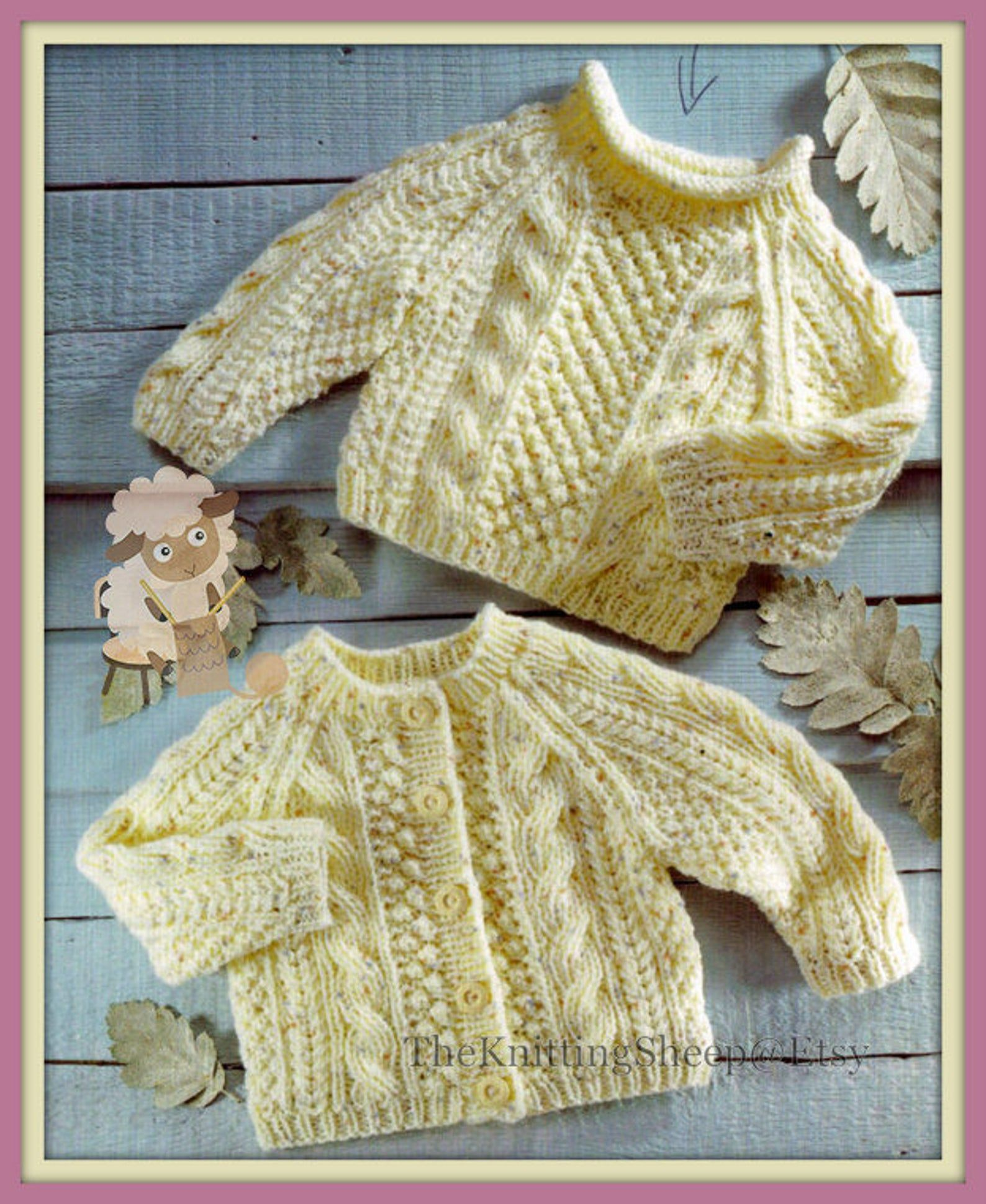 Pdf Knitting Pattern For Aran Cardigan Sweater To Fit Chest Etsy Cable Knit Sweater Pattern Aran Cardigan Baby Boy Knitting Patterns