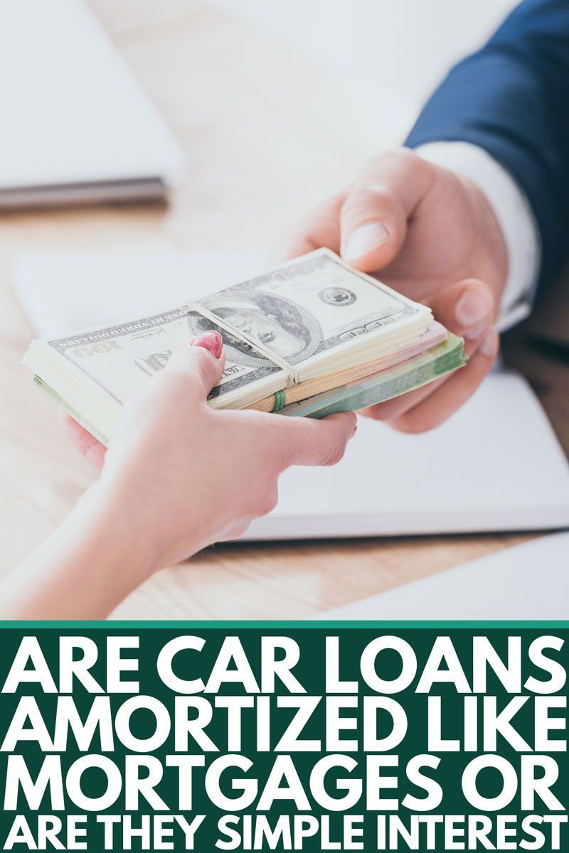 Are Car Loans Amortized Like Mortgages Or Are They Simple Interest Car Loans Finance Guide Loan