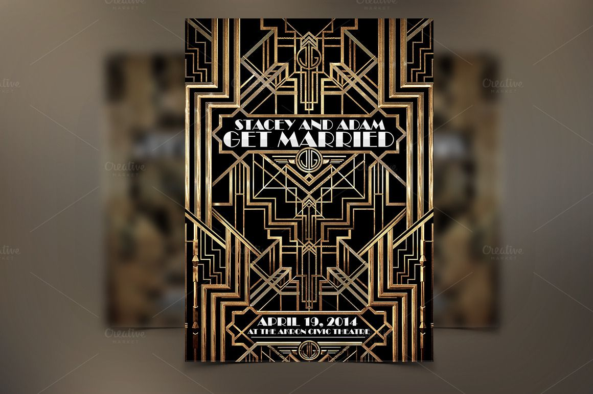 the great gatsby flyer weddings by graphicfy templates on creative
