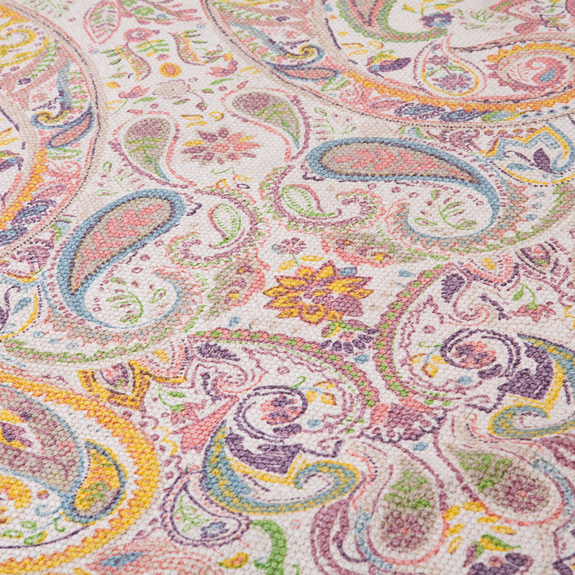 Multicoloured Paisley Cotton Rug Rugs Decoration Zara Home United Kingdom