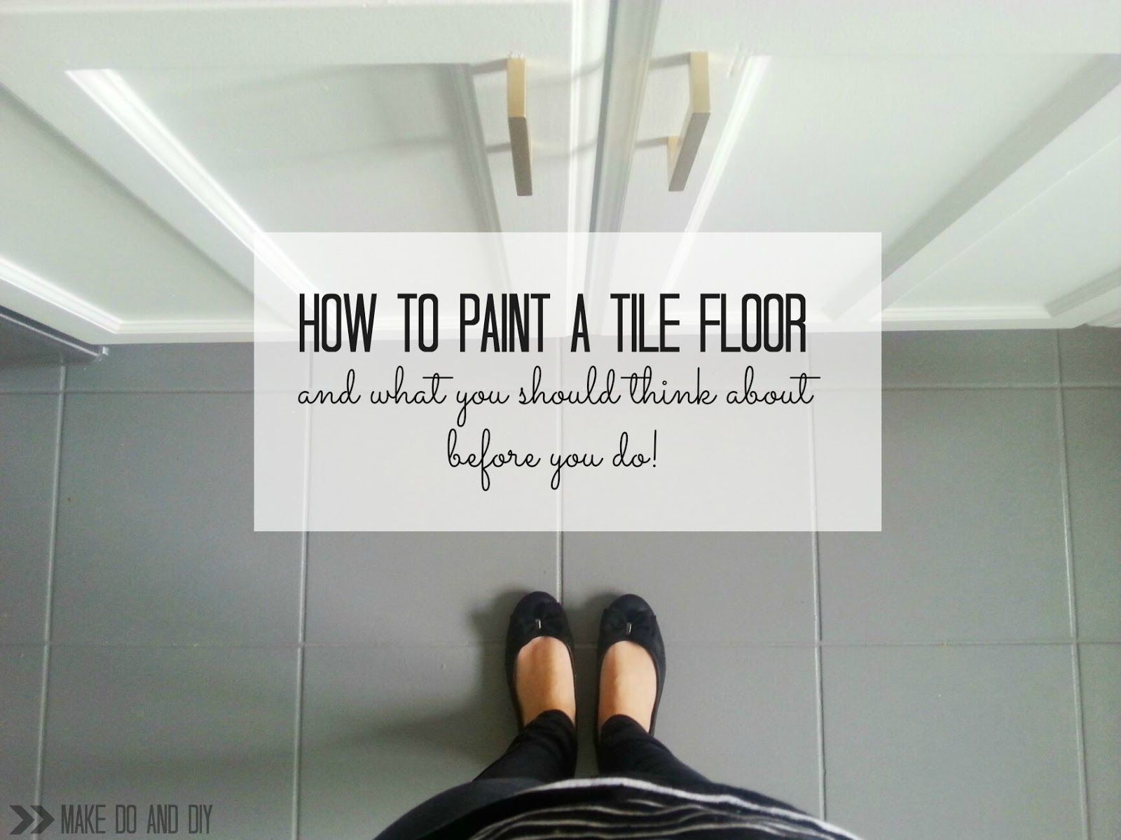 how to paint a tile floor, and what you should think about ...