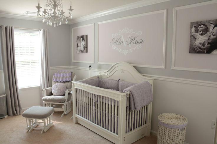 Lavender And Grey Nursery Purple Nursery Girl Baby Girl Room