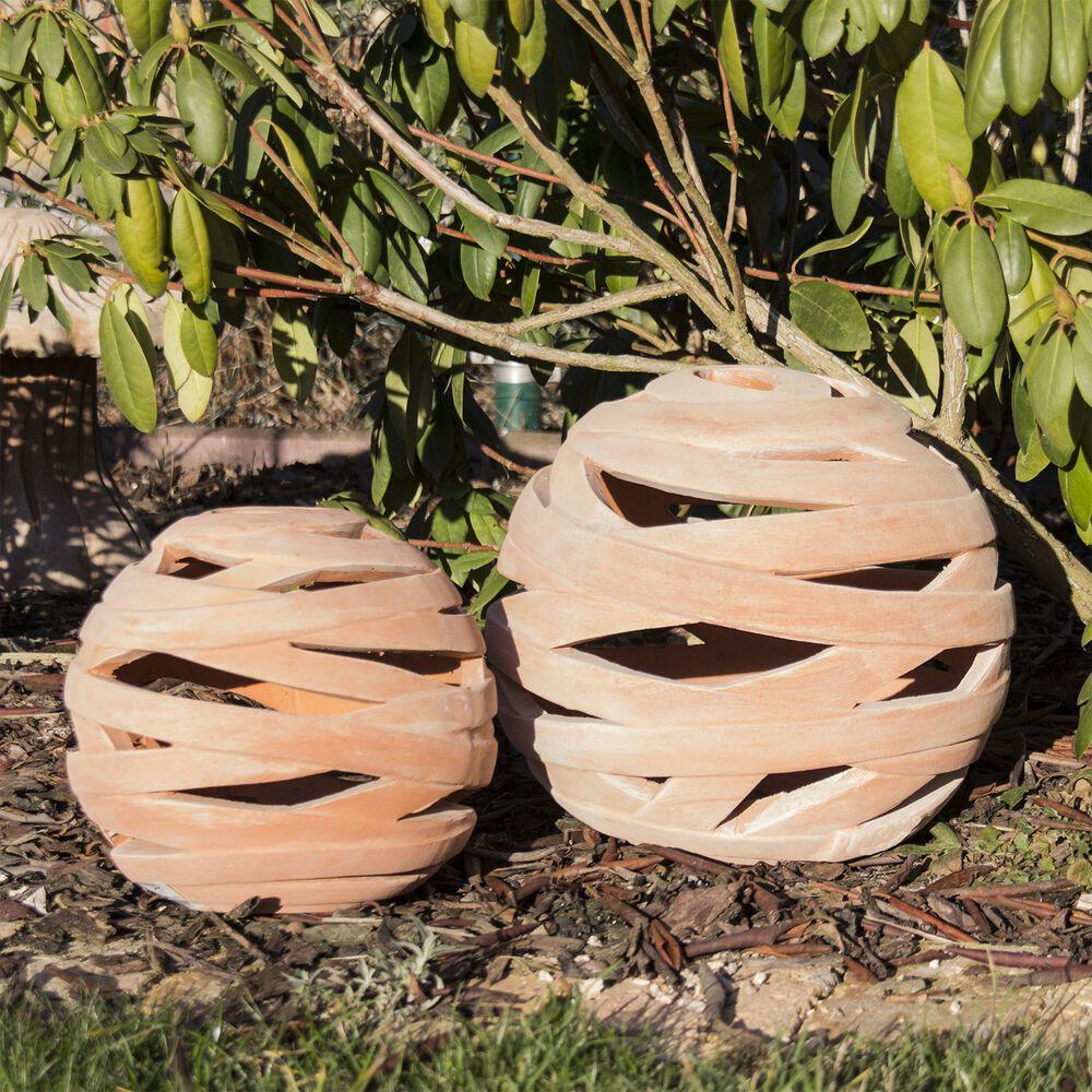 Kugel Dekokugel Gartendeko Laterne Durchbrochen D 18cm 26cm 34cm Terracotta Ebay Topferarbeiten Keramik Topferei Ideen