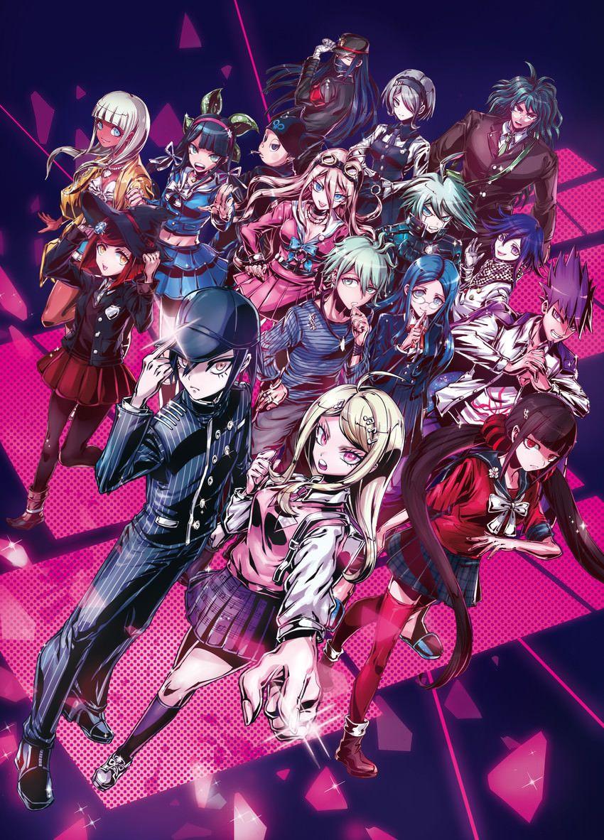 V3 Cast By Puppeteer7777 Danganronpa Danganronpa Characters Anime