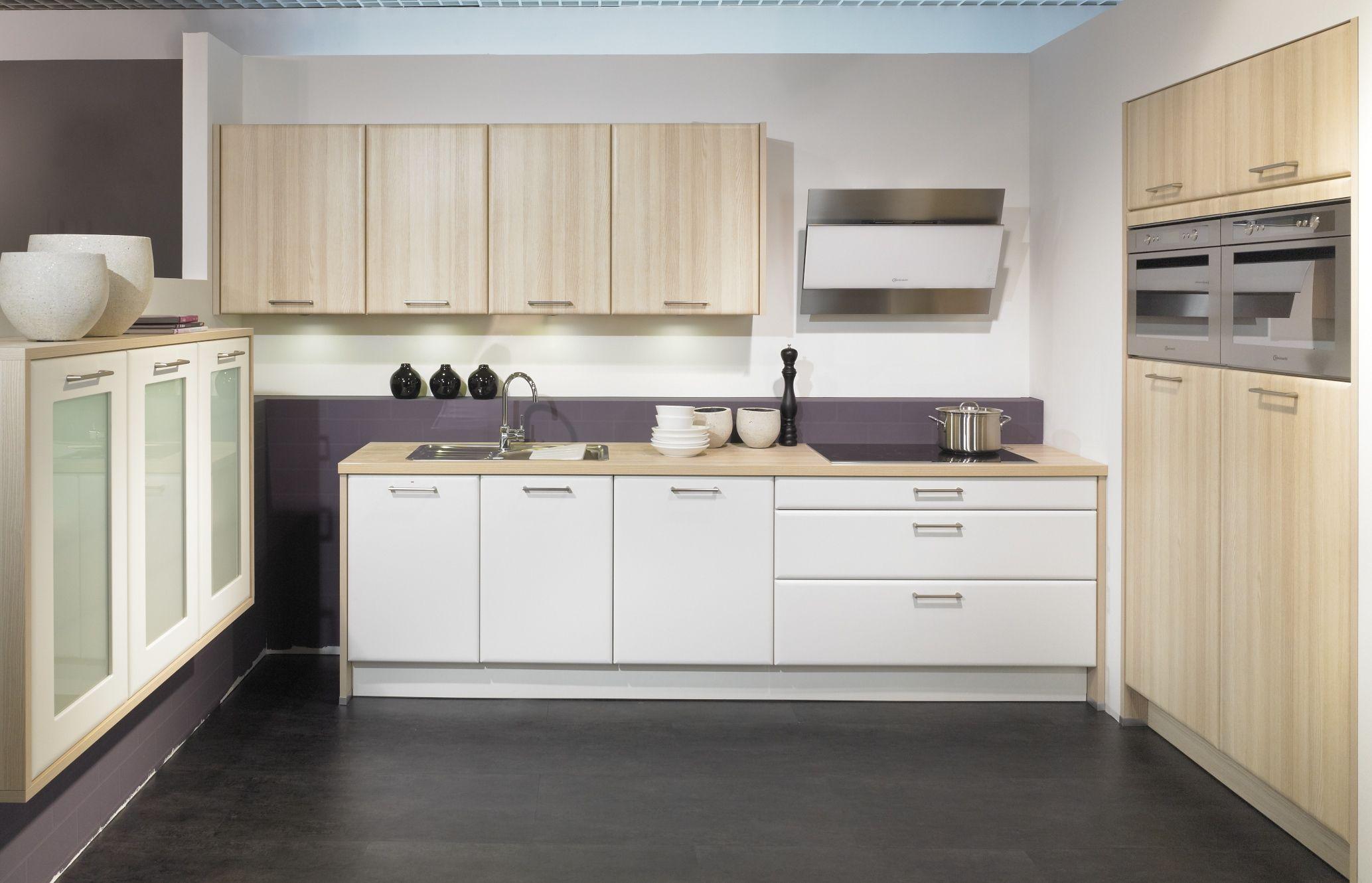 Cuisine en L bois / beige pour tous les intérieurs http://www ...