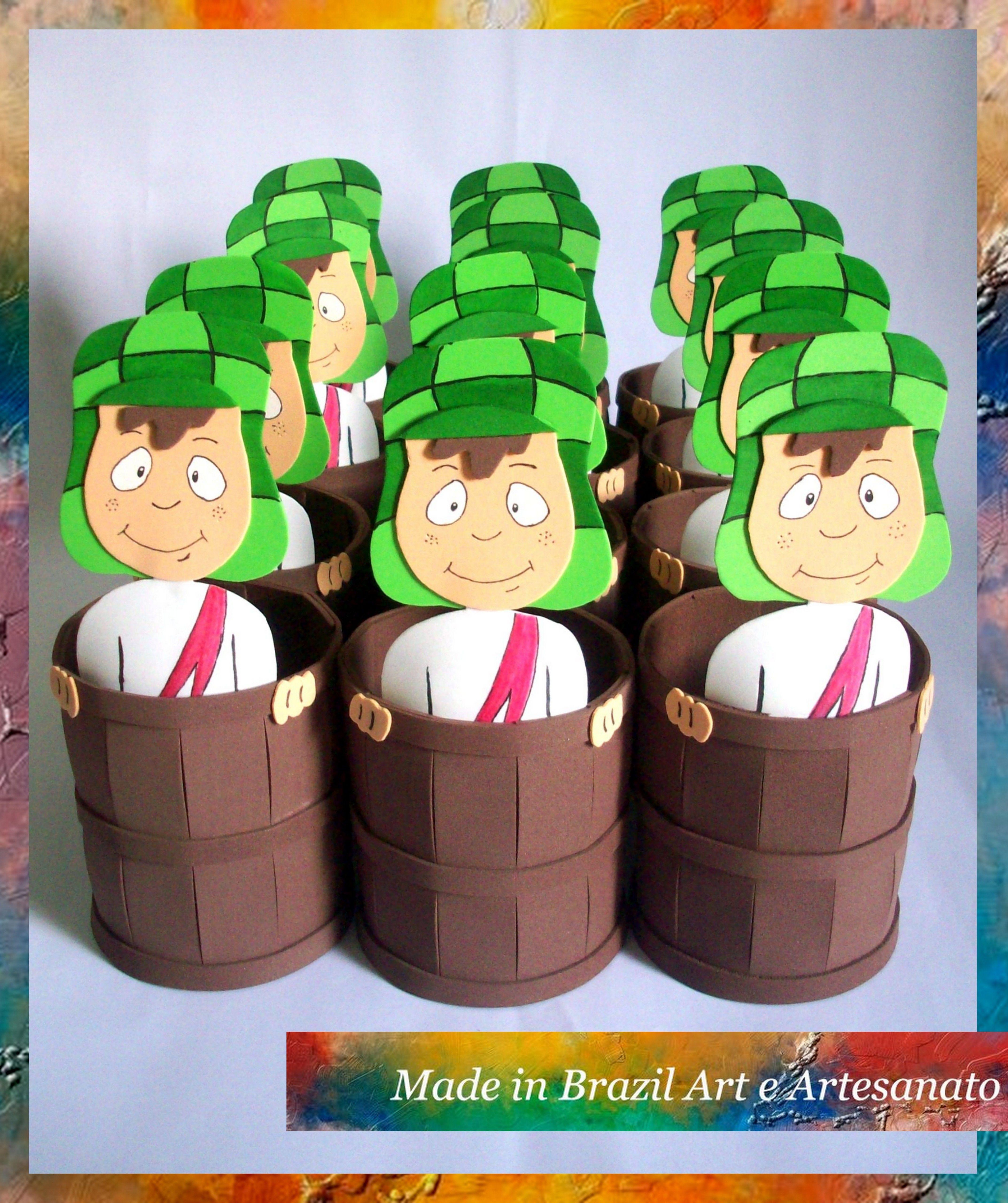 Armario Hita Jose Carlos ~ Centro de mesa de festa infantil com o tema Chaves #MadeinBrazil #Artesanato u2026 Turma do